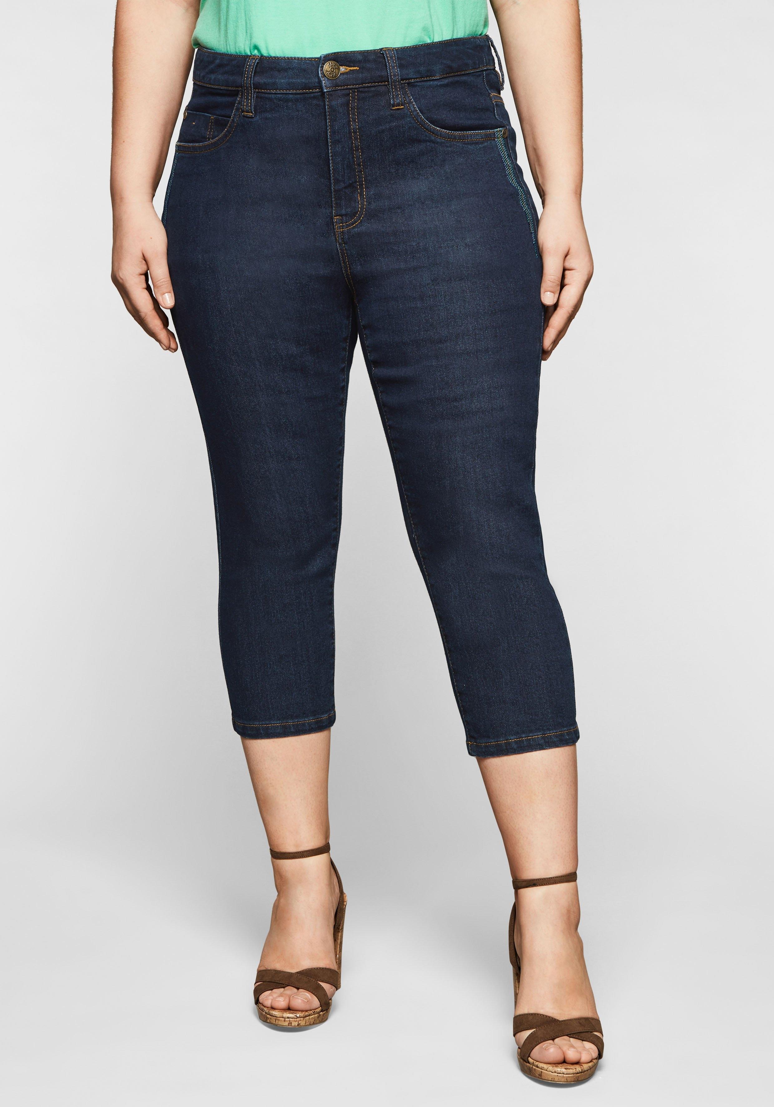Sheego capri jeans met catfaces en contrastnaden online kopen op otto.nl