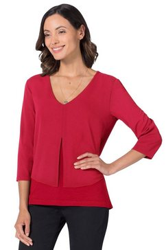 ambria blouse in lagen-look rood