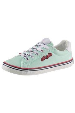 tom tailor sneakers met leuk logoborduursel groen