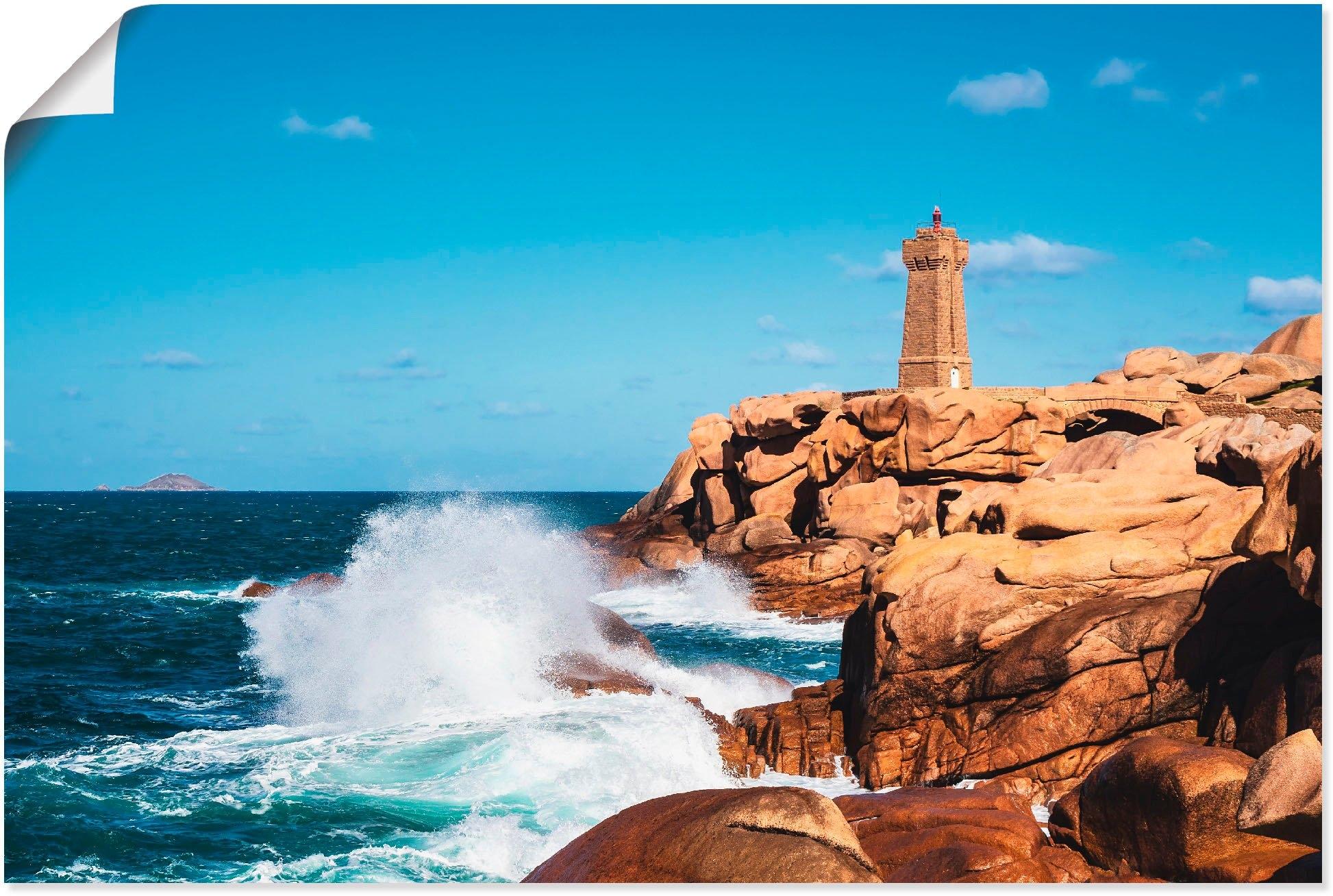 Artland artprint Kust van de Atlantische Oceaan Bretagne bij Ploumanach in vele afmetingen & productsoorten -artprint op linnen, poster, muursticker / wandfolie ook geschikt voor de badkamer (1 stuk) nu online bestellen