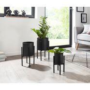 andas bloemenstandaard (set van 3) zwart