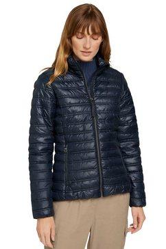 tom tailor gewatteerde jas met opstaande kraag blauw