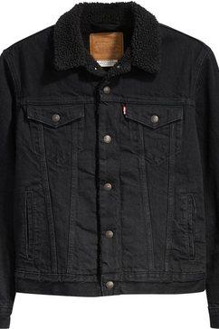 levi's jeansjack »type 3 sherpa trucker« zwart