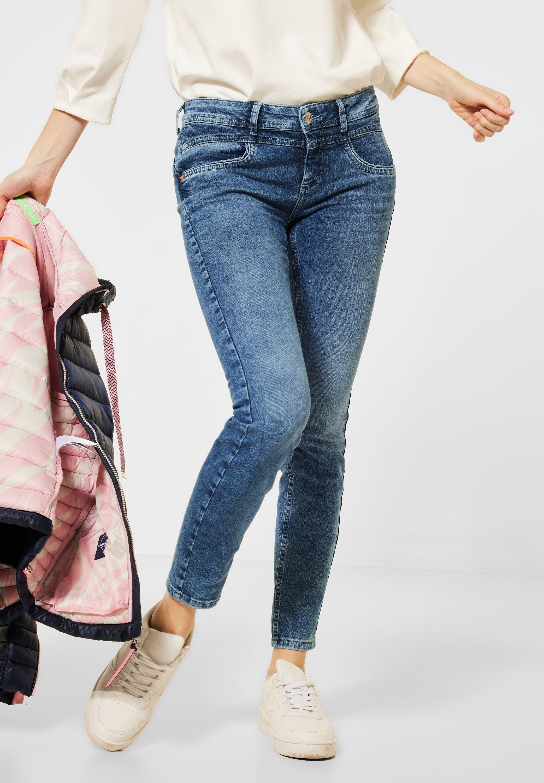 STREET ONE slim fit jeans 4-pocketsstijl online kopen op otto.nl