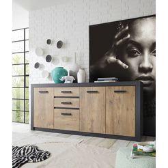 my home dressoir bruegge met een decoratieve frame-look grijs