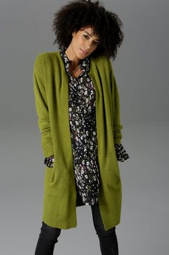 aniston casual vest in oversized look groen