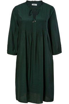 s.oliver black label midi-jurk groen