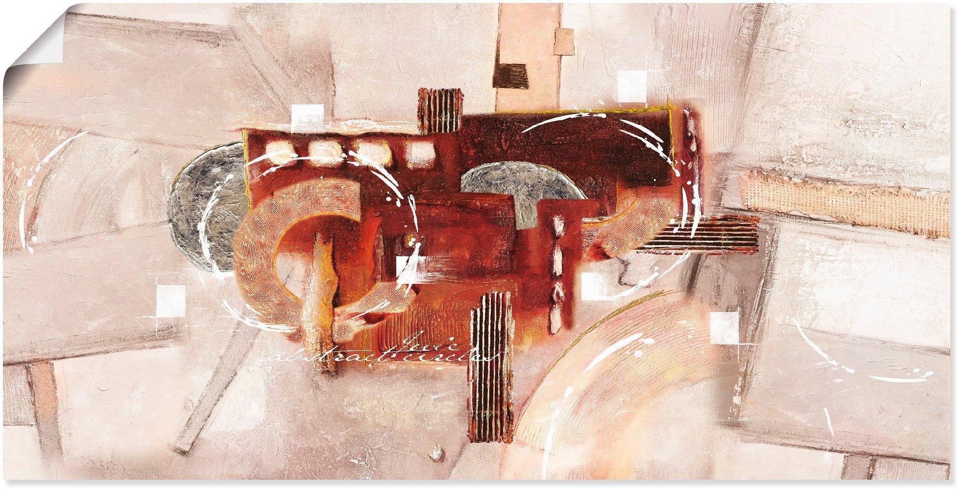 Artland artprint Abstracte rondjes in vele afmetingen & productsoorten - artprint van aluminium / artprint voor buiten, artprint op linnen, poster, muursticker / wandfolie ook geschikt voor de badkamer (1 stuk) bestellen: 30 dagen bedenktijd
