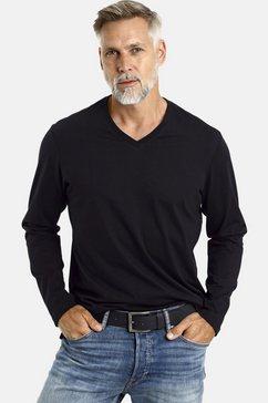 jan vanderstorm shirt met lange mouwen amund 2 basic t-shirts, comfort fit (set van 2) zwart