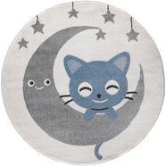 festival vloerkleed voor de kinderkamer candy 152 motief maan sterren blauw