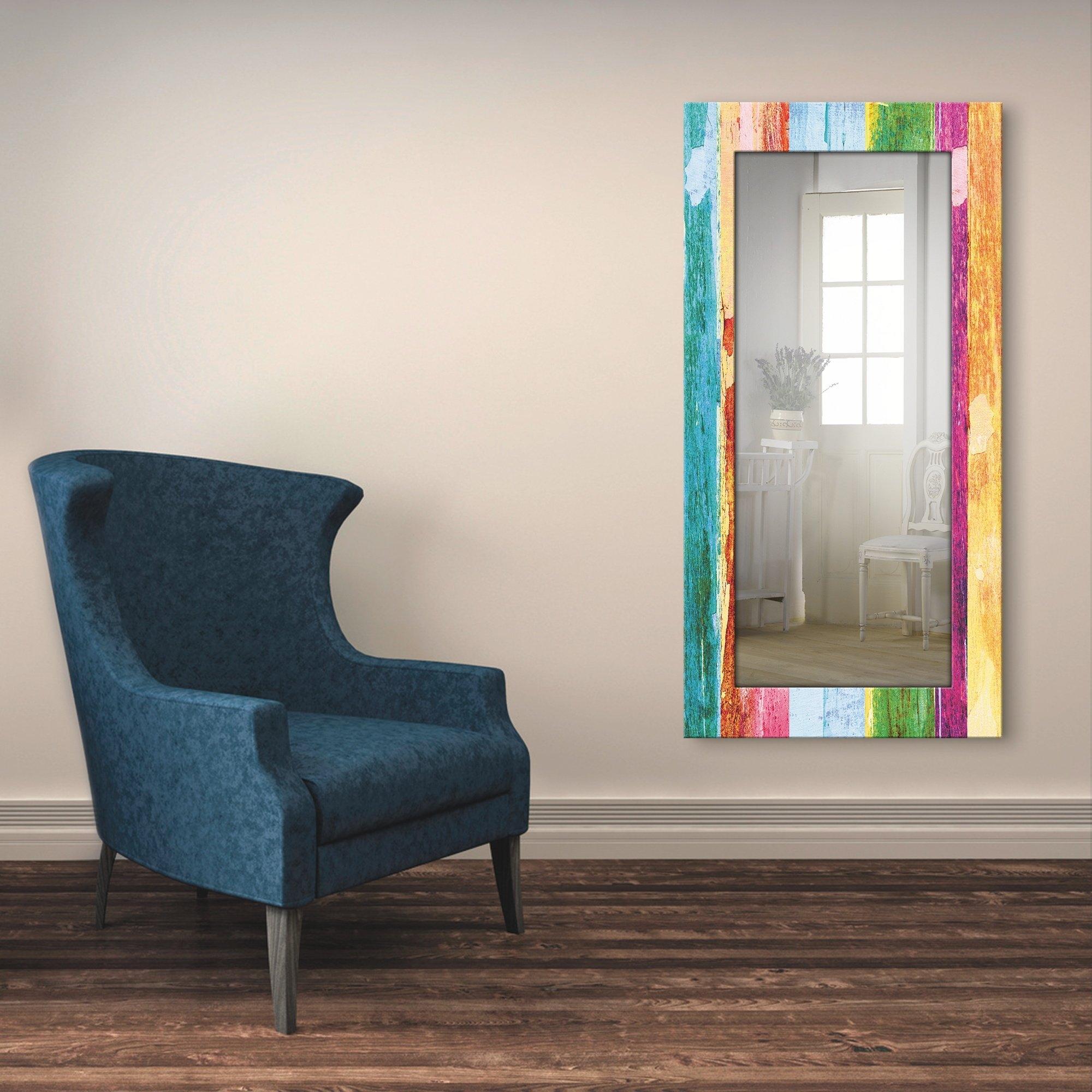Artland wandspiegel Neem je tijd ingelijste spiegel voor het hele lichaam met motiefrand, geschikt voor kleine, smalle hal, halspiegel, mirror spiegel omrand om op te hangen online kopen op otto.nl