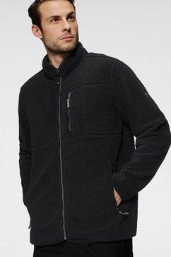 polarino fleecejack van sherpa-fleece zwart