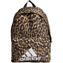 adidas performance »bos backpack leopard« sportrugzak bruin
