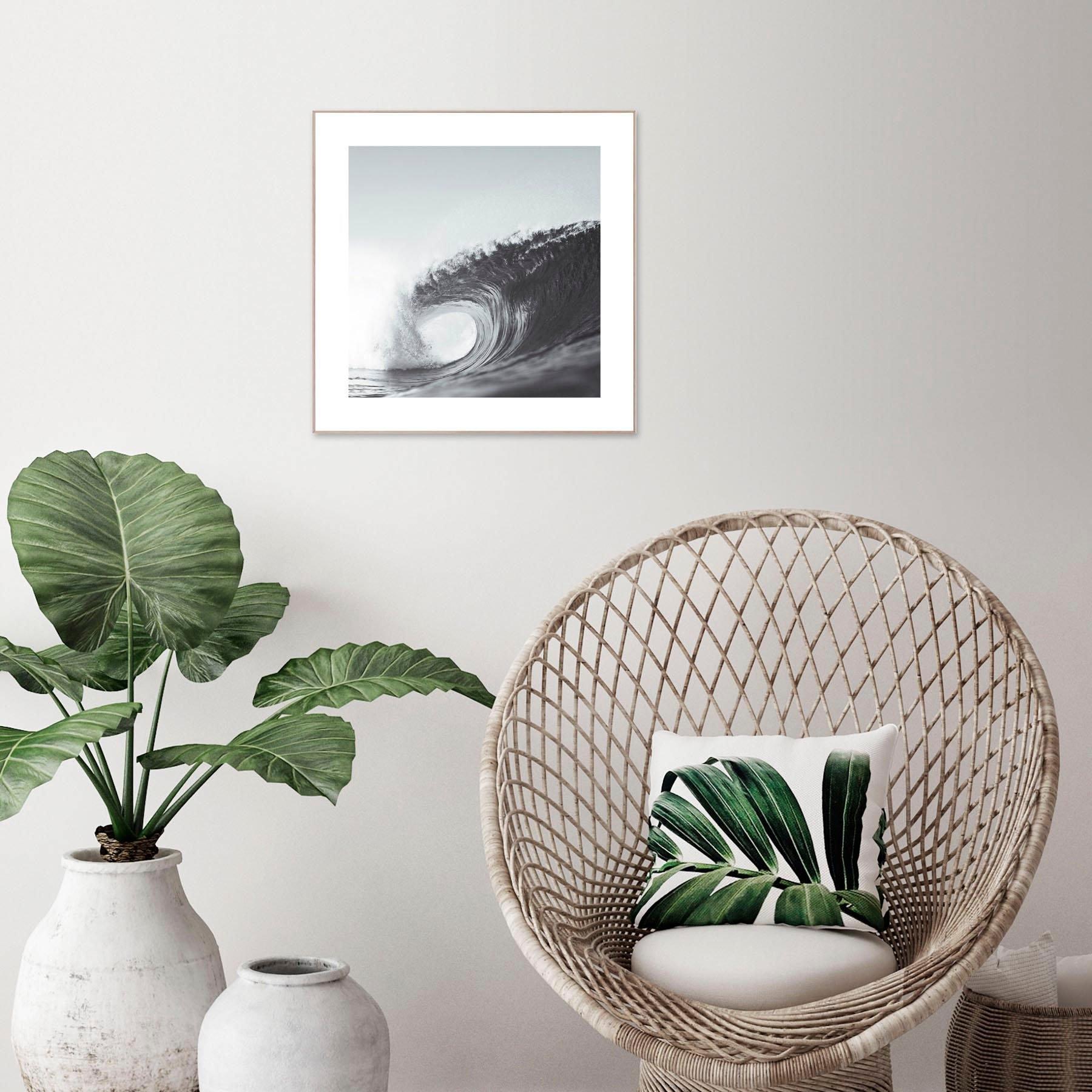 Reinders! artprint Slim Frame Wood 50x50 Wave nu online kopen bij OTTO