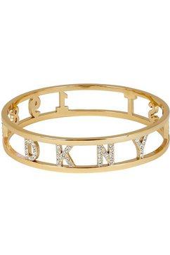 dkny armband »dkny 1989 bangle br (gl) - m-l, 5547956« goud