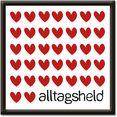 artland artprint alledaagse held (1 stuk) rood