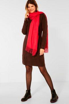 cecil tricotjurk in gemêleerde look bruin