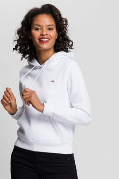 tommy jeans hoodie »tjw regular fleece hoodie« wit