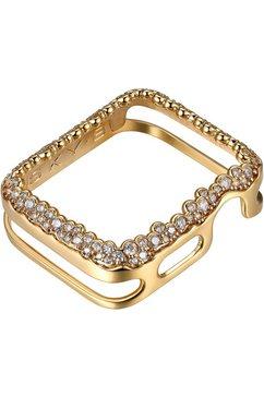 sky•b smartwatch-afdekking »champagne bubbles, w004g42, 42 mm« goud