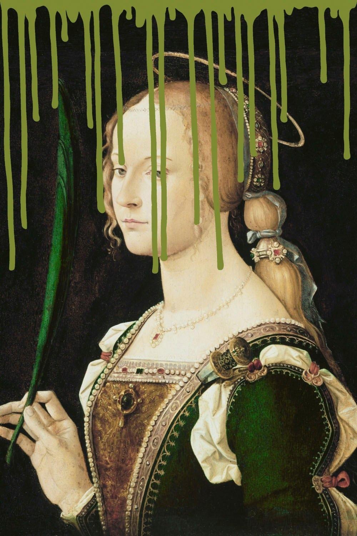 queence artprint op acrylglas Vrouw - verschillende betaalmethodes
