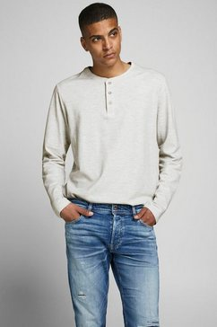 jack  jones shirt met lange mouwen »henley« wit