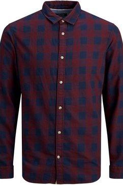 jack  jones geruit overhemd »gingham twill shirt« paars