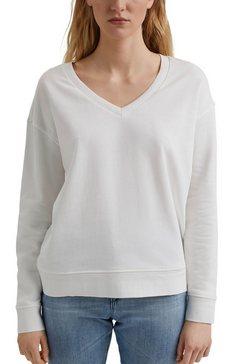 edc by esprit sweater met een diepe v-hals wit