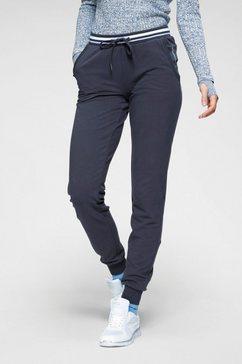 kangaroos joggingbroek met gestreepte tailleband blauw