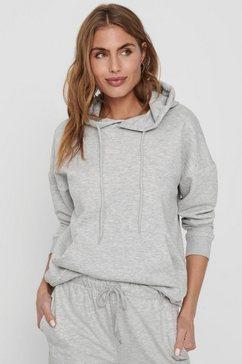 only hoodie »onlfeel« grijs