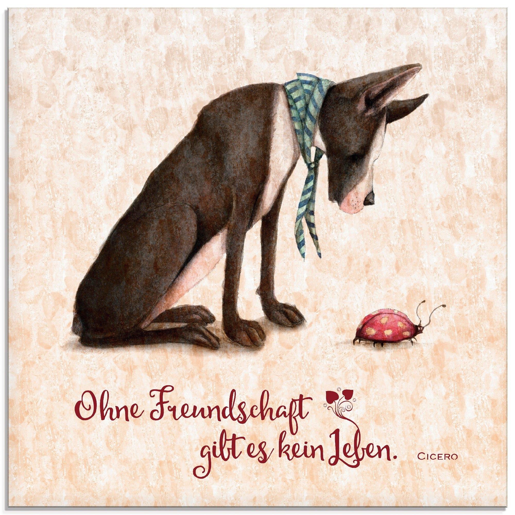 Artland print op glas Levenswijsheid vriendschap (1 stuk) - gratis ruilen op otto.nl