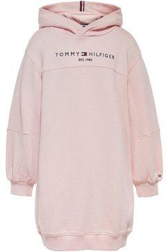tommy hilfiger sweatjurk essential hoodie dress l roze