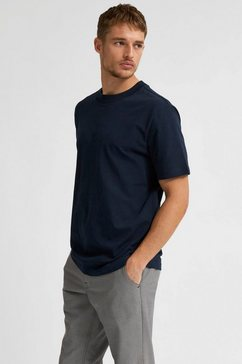 selected homme t-shirt »relax colman o-neck tee« blauw