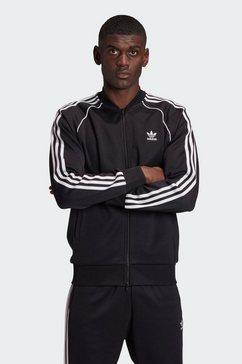 adidas originals trainingsjack sst trackpants prime blue zwart