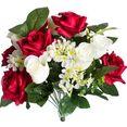 botanic-haus kunstbloem bos rozen (1 stuk) rood