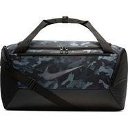 nike sporttas »brasilia printed training duffel bag (small)« zwart