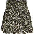 tommy jeans volantrok tjw smocked waist floral skirt met brede, gesmokte tailleband zwart