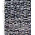 carpetfine loper kelim azizi katoenen, tweezijdig te gebruiken kleed met franje, woonkamer blauw