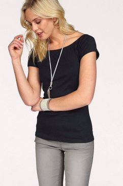 arizona shirt met carmenhals off-shoulder verschillend te dragen zwart