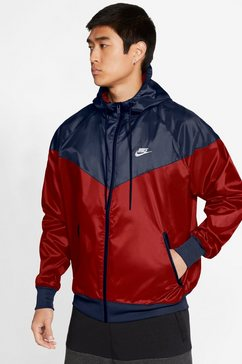 nike sportswear windbreaker nike sportswear heritage essentials windrunner men's hooded jacket blauw