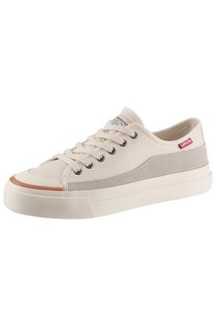 levi's plateausneakers squre low s in een modieuze materialenmix wit