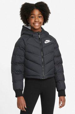 nike sportswear outdoorjack big kids (girls) synthetic fill hoo zwart