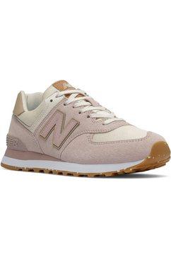 """new balance sneakers wl574 """"sustainability pack"""" met praktische vetersluiting roze"""