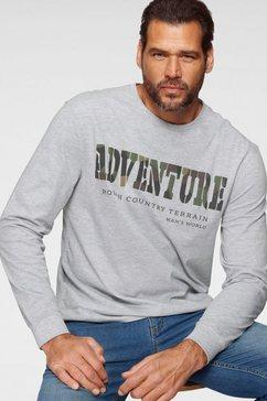 man's world shirt met lange mouwen grijs