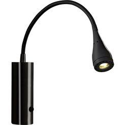 nordlux led-leeslamp mento zwart