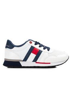 tommy hilfiger sneakers met logo-opschrift bij de hiel wit