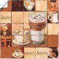 artland artprint latte macchiato collage in vele afmetingen  productsoorten - artprint van aluminium - artprint voor buiten, artprint op linnen, poster, muursticker - wandfolie ook geschikt voor de badkamer (1 stuk) beige