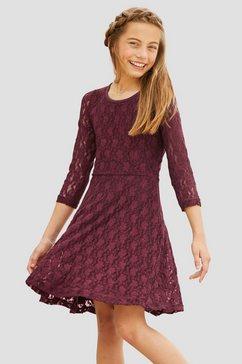 arizona kanten jurk met 3-4-mouwen rood