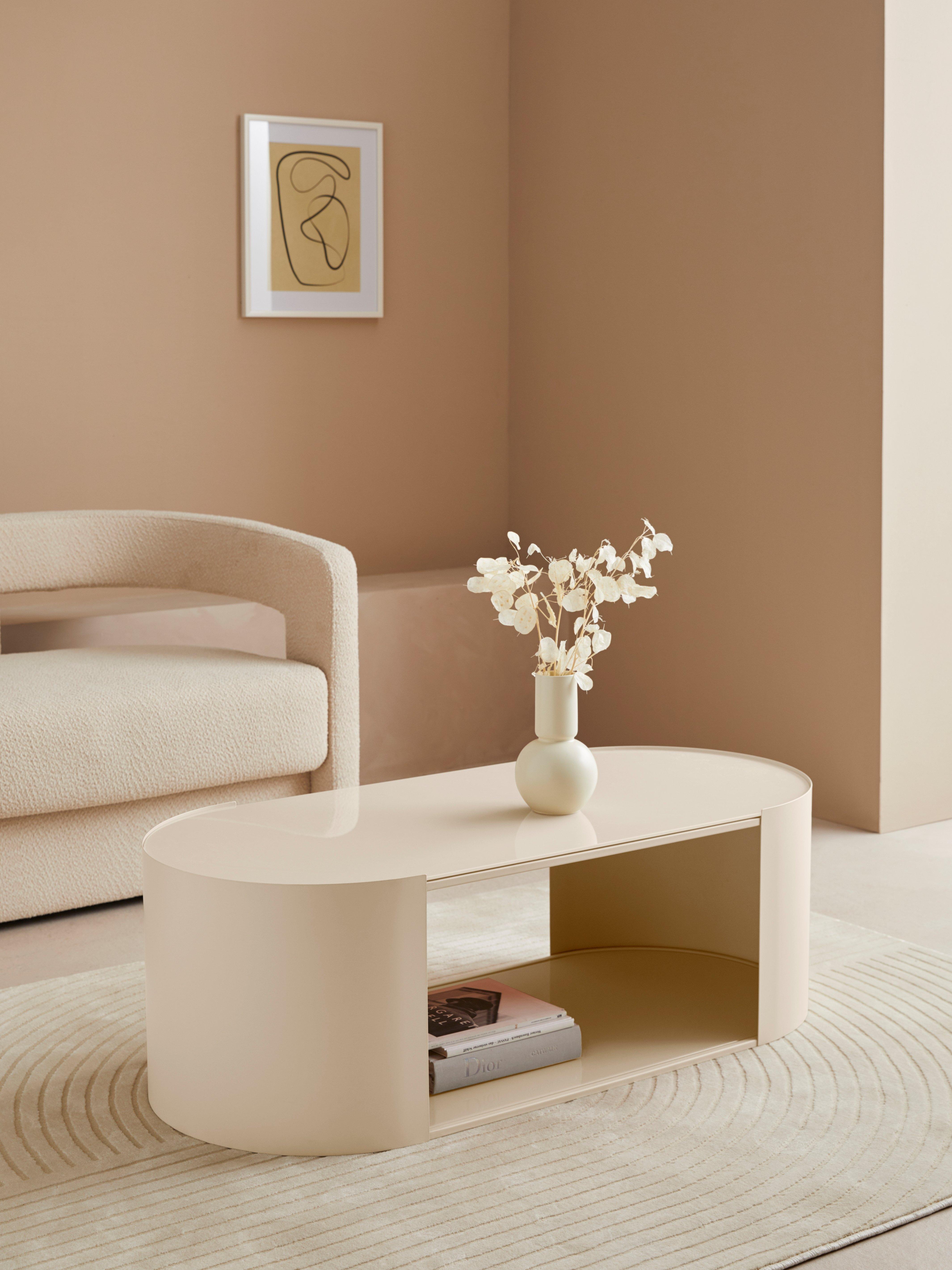 LeGer Home by Lena Gercke salontafel Ivy ovaal, 0,6 cm dik tafelblad, open vak bij OTTO online kopen