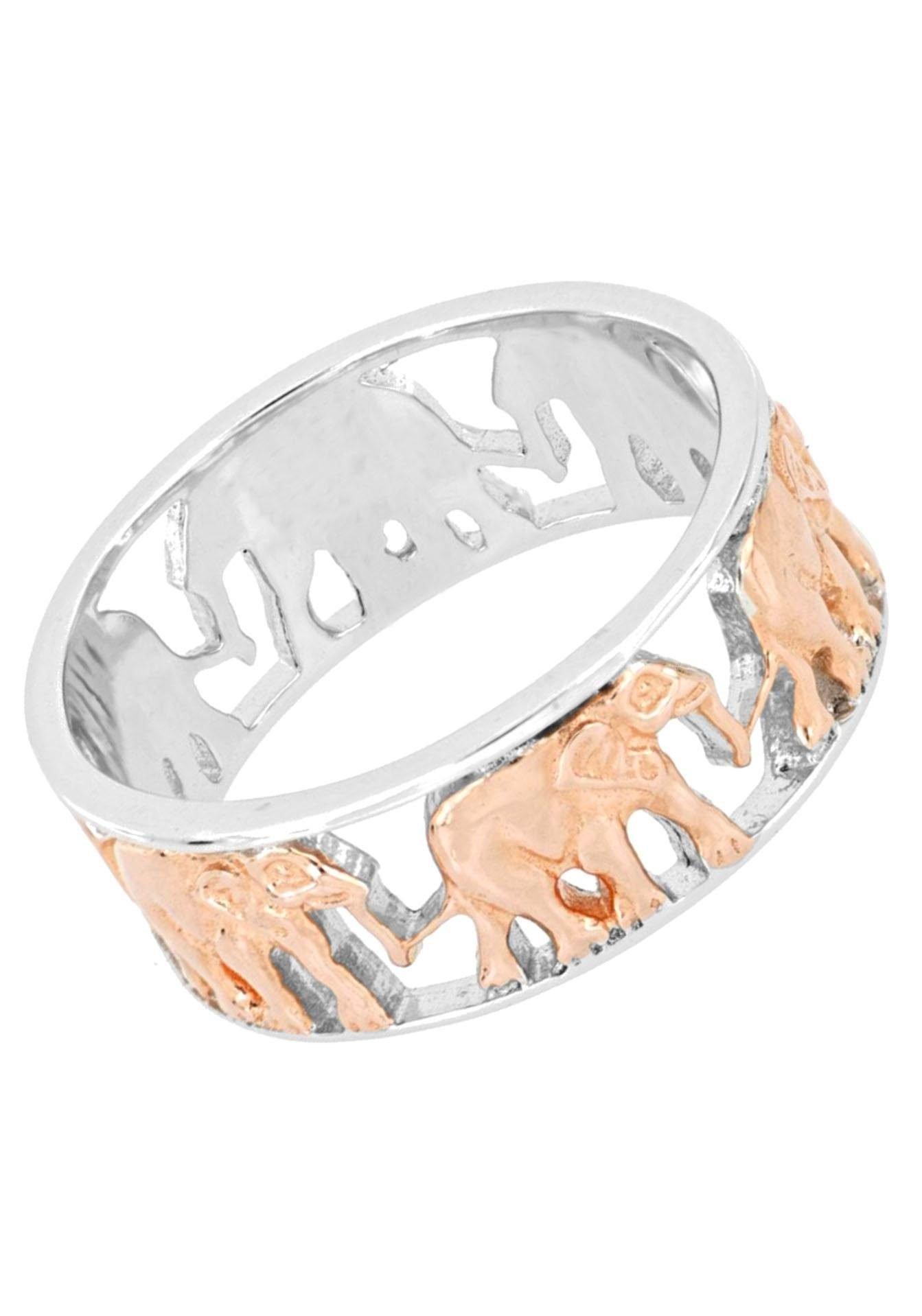Firetti zilveren ring Bandring met olifanten, glanzend, gerodineerd, gedeeltelijk rozeverguld in de webshop van OTTO kopen