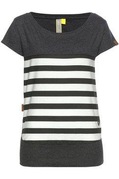 alife and kickin t-shirt »cora s« zwart